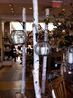 Birch Log Decorations at Pottery Barn