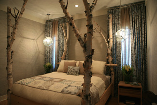 Birch Log Bed - Featured on Extreme Makeover Home Edition