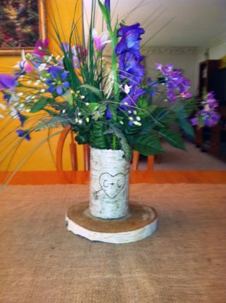 Custom Birch Bark Flower Vase