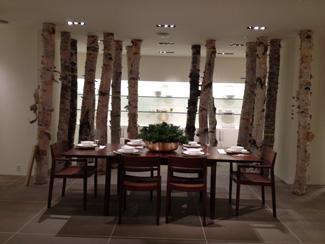 Birch Logs displayed in Calvin Klein store